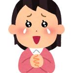 感動する女性のイラスト(小)