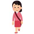 乗り降りのポーズの人のイラスト(女性)(極小)