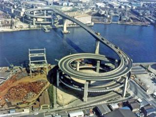 大阪大正区 ループ橋 めがね橋