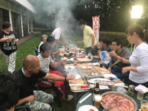 滑川福田新人研修6・7月 BBQ